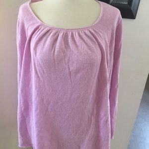 Eileen Fisher Lavender Linen Sweater Shirt Size 2X